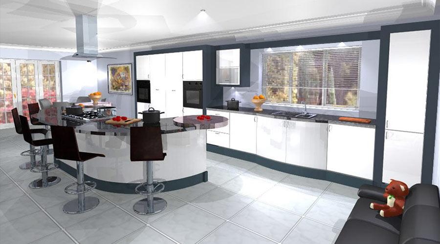 3d Computer Modelled Kitchens