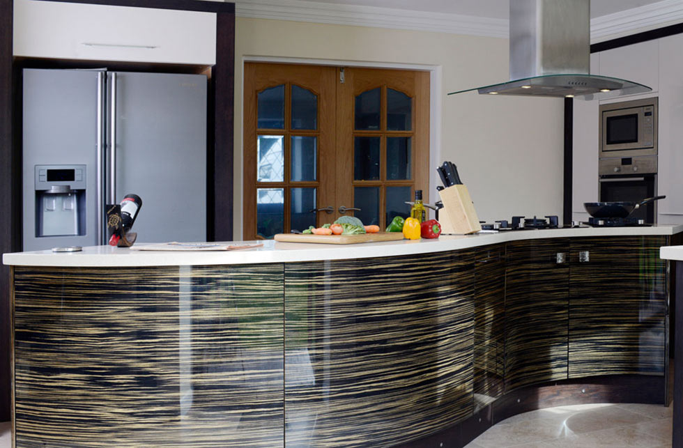 Wave Curve Modern Kitchen