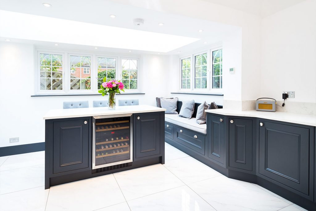 new kitchen - bespoke in-frame beaded shaker kitchen