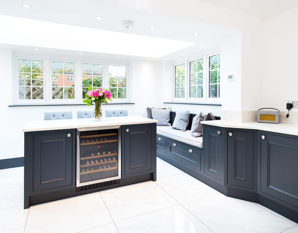 Bespoke in-frame beaded shaker kitchen